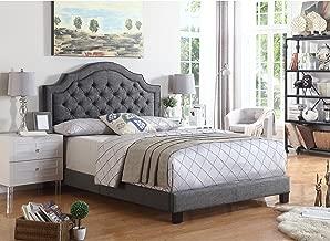 Rosevera Upholstered Panel/Platform Angelo Tufted, King, Grey