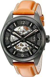 Men's H72585535 Khaki Field Analog Display Automatic Self Wind Brown Watch
