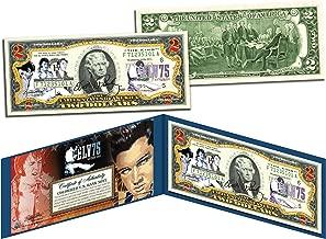 ELVIS PRESLEY * 75th Birthday * Legal Tender U.S. $2 Bill *OFFICIALLY LICENSED*