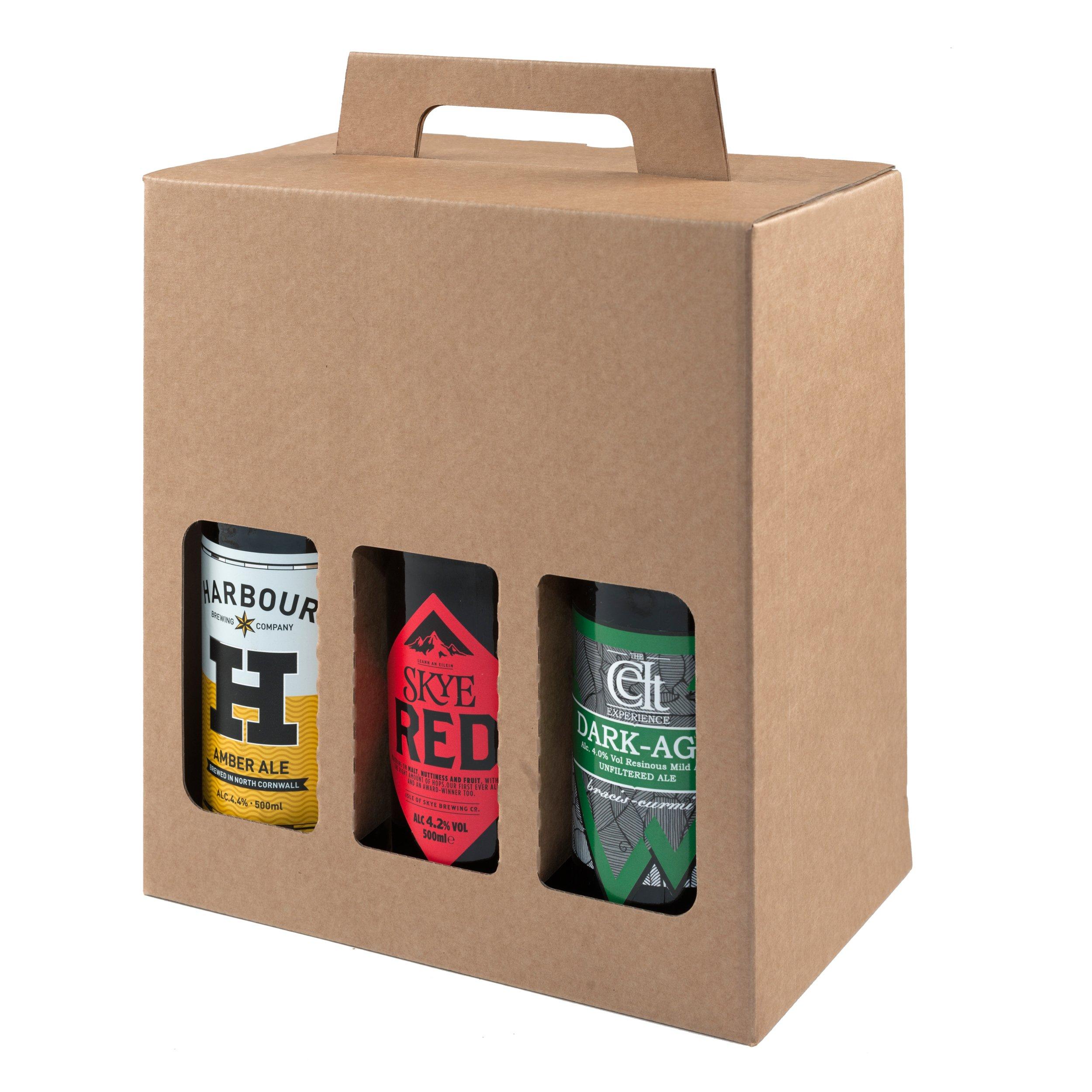 Botella de cerveza y sidra, caja de cartón resistente para 6 botellas de 500 ml – un