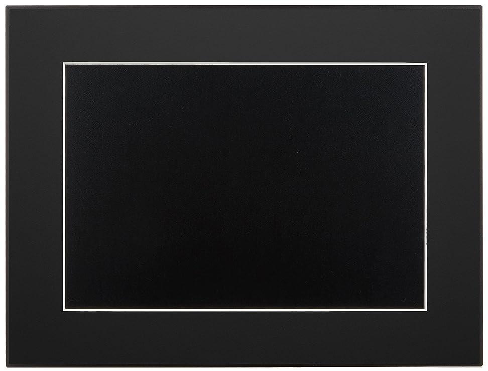黒人雑種リーンFUJICOLOR 額縁 ギャラリーパネル ワイド4切 ブラック マグネット式 331355