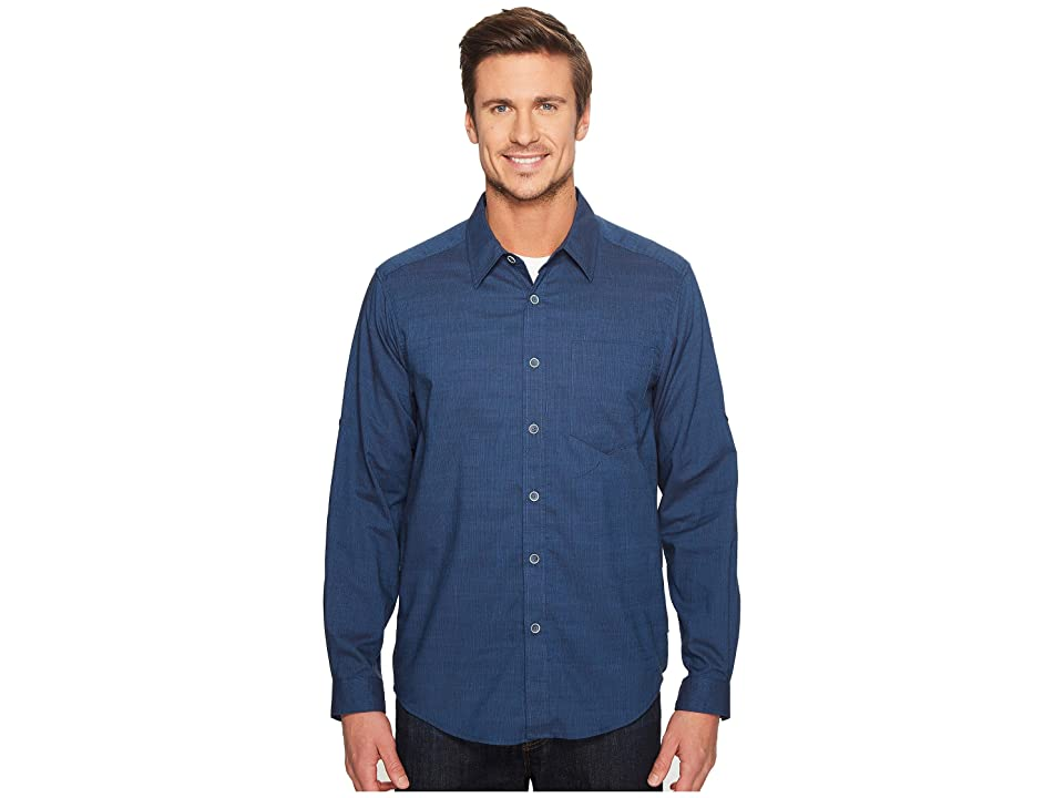 ExOfficio Lampara Long Sleeve Shirt (Navy) Men