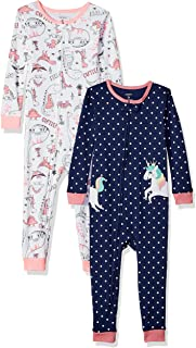 Carters Baby Girls 2-Pack Cotton Footless Pajamas