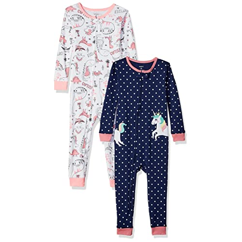 f1a6e0670 Carter's Baby Girls' 2-Pack Cotton Footless Pajamas