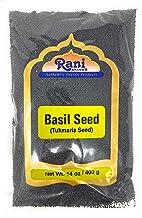 Rani Tukmaria (Natural Holy Basil Seeds) 14oz (400g) Used for Falooda / Sabja Dessert, Spice & Ayurveda Herbal ~ Gluten Fr...