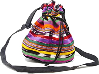 Crossbody Draw String Ditty Bag - Handmade in Guatemala (Patterns And Colors May Vary Slightly)