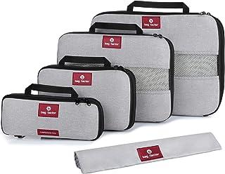Compression Packing Cubes for Travel – Smart Modern Design Luggage Organizer Set