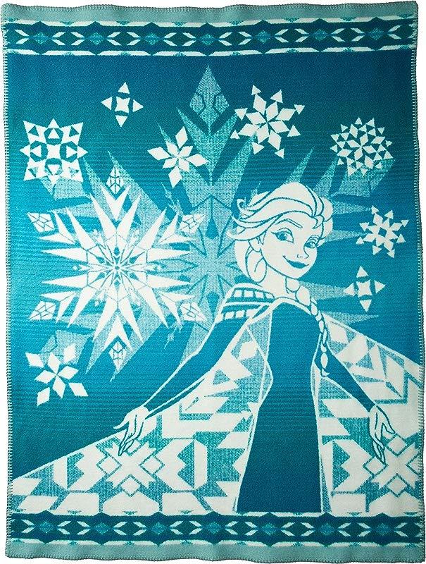 Pendleton Unisex Disney Frozen Elsa S Courage Jacquard Blanket Kids Green One Size