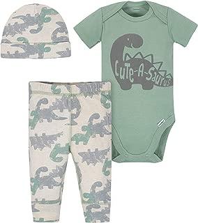 Gerber Baby-Boys 3-Piece Bodysuit, Pant and Cap Set Pants Set