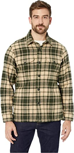 Dark Cream/Green Plaid
