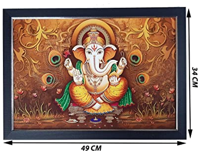 Raj Darbar Wood Photo Frame  (Ganesha)