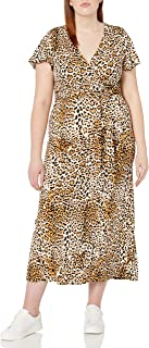 Star Vixen Women's Plus-Size Short-Sleeve Faux Wrap Maxi Dress