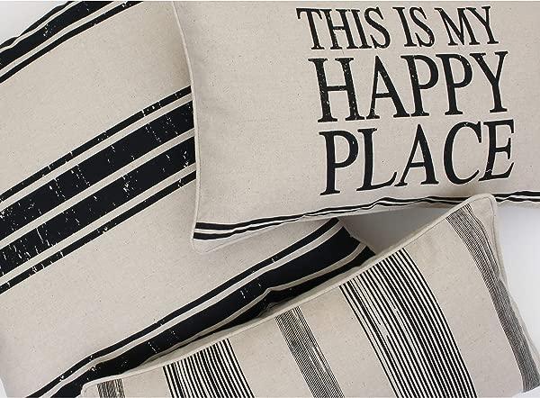Thro By Marlo Lorenz Throw Pillow Natural Black