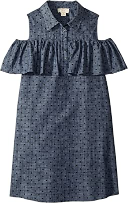 Cold Shoulder Ruffle Dress (Little Kids/Big Kids)