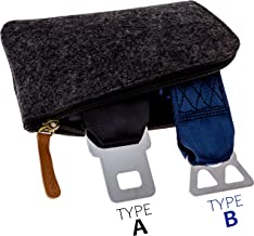 Airplane Seatbelt Extenders Premium 2 Pack for All Airlines | Type A Universal | Type B Southwest | 2019 Upgraded Colors & Bonus Felt Travel Case Zipper Pouch for Safe Discreet Storage | by journeyxl