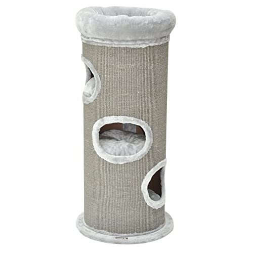 nanook Tour à griffer pour Chat CatsHome XL - 110 cm - avec lit de Chat et Grandes Surfaces à gratter - Gris