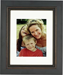 Nielsen Bainbridge Artcare 8x10 Archival Palladio Collection Distressed Black and Brown Frame with White Mat for 5x7 Image
