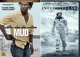 Interstellar (2014) & Mud DVD Matthew McConaughey Sci-Fi Movie Adventure Bundle Double Feature set