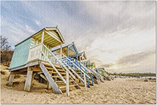 Hunstanton, Norfolk, England - Colorful Beach Huts 9026157 (Premium 1000 Piece Jigsaw Puzzle for Adults, 20x30, Made in USA!)