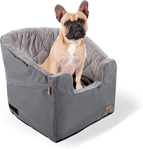 "K&H Pet Products Bucket Booster Dog Car Seat Small Gray 14.5"" x 20"""