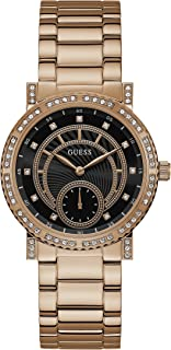Guess Casual Watch Analog Display Quartz For Women W1006L2, Pink Band