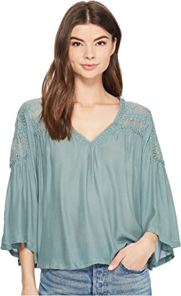 Lace Shoulder Detail Blouse