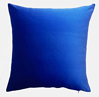 Silk Throw Pillow Cover Royal Blue 15x15 inch Pack of 2 100% Pure Silk Dupioni Cushion Cover NO INSERT INCLUDED