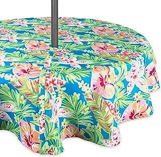 round vinyl tablecloth with umbrella hole
