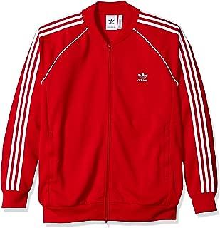 red adidas bomber jacket