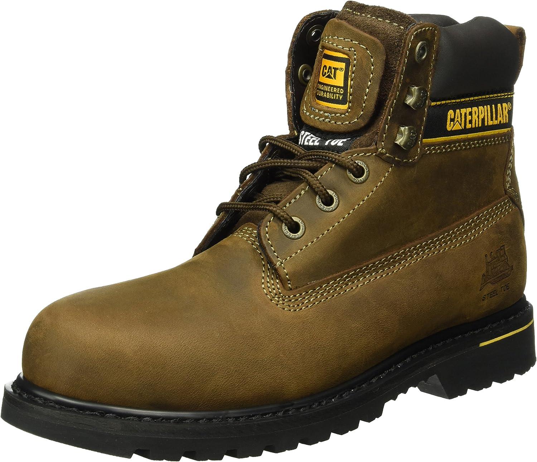 Caterpillar Holton S3 HRO SRC Mens Dark Brown Short Boots