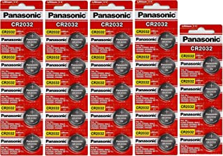 24 Panasonic CR2032 Batteries Lithium cr-2032 3V Coin Cell 4 Packs of 6 Batteries - Exp. Date 2022