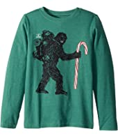 Life is Good Kids Wild Man Candy Cane Long Sleeve Crusher Tee (Little Kids/Big Kids)