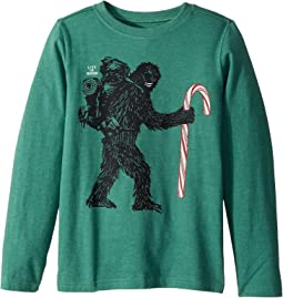 Life is Good Kids - Wild Man Candy Cane Long Sleeve Crusher Tee (Little Kids/Big Kids)