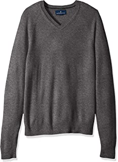 Buttoned Down Men's 100% Cashmere V-Neck Sweater