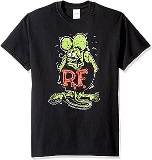 T-Line Men's Ratfink Distressed Vintaged Graphic T-Shirt