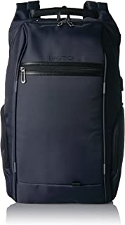 Nautica Men's Business Tech USB Water Resistant Nylon Laptop Backpack