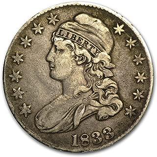 1833 Capped Bust Half Dollar XF Half Dollar Extremely Fine