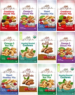 Healthy Premium Assorted Nuts and Fruits Snack Mix Sampler Variety Pack, Good for the Heart by Variety Fun (12 Count)