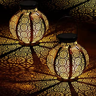 Large Solar Latern, Hanging Outdoor Solar Lanterns Waterproof with Handle Solar Lights Outdoor Decorative Garden Lights fo...