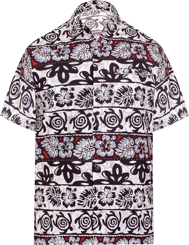 LA LEELA Men's Sale SALE% OFF Vacation Outwear Dress Sleeve Shir Jacksonville Mall Short Hawaiian