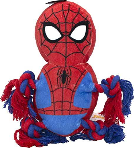Marvel FFP9923T Comics Spiderman Rope Knot Buddy for Dogs | Super Hero Toys for All Dogs and Puppies
