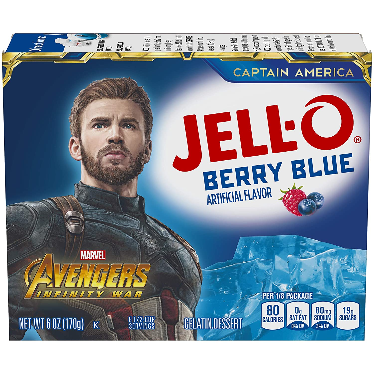 Jell-O Ranking TOP15 Berry Blue Gelatin Mix oz Boxes Pack of El Paso Mall 6