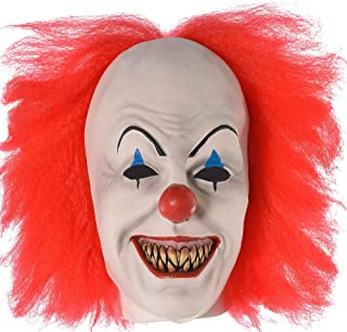 SUIT YOURSELF It Pennywise Mask for Adults, One Size, Features Painted Clown Makeup, a Red Nose, Pointy Teeth, and More