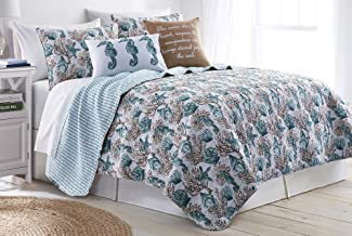 Elise & James Home Clear Water Quilt Set Full/Queen Blue multi