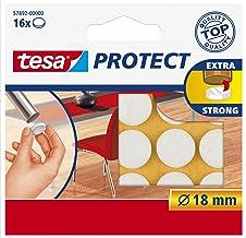 Tesa Oppervlaktebeschermers, Anti Scratch Zelfklevend Vilt Rond 18 Mm Dia, Wit (16 Pads) (Oude Versie) 18 mm Diameter/16 P...