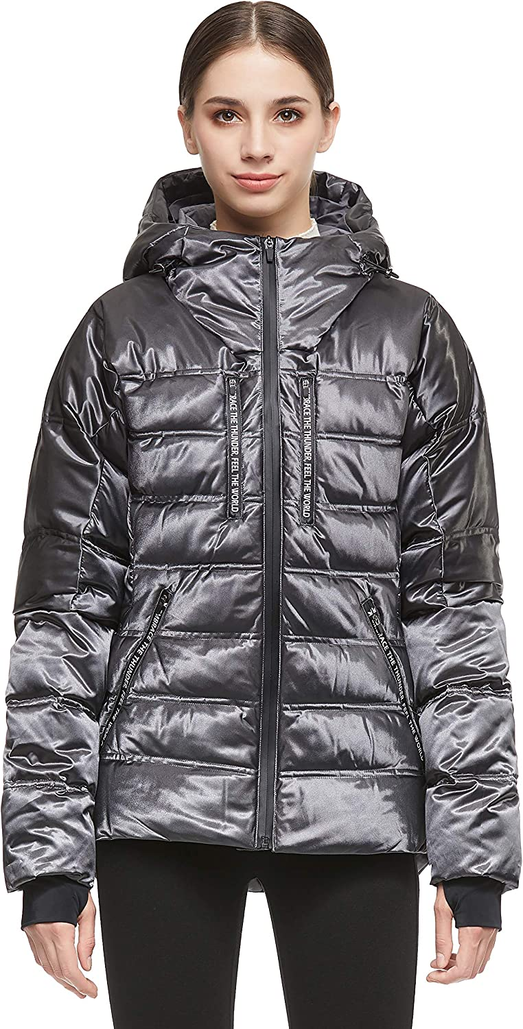 Orolay Women Warm Max 88% Now free shipping OFF Down Jacket Hood Coat Unique with Quilting