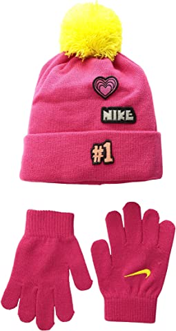 Patch Play Beanie Gloves Set (Little Kids)