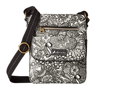 Sakroots Artist Circle Small Flap Messenger (Black/White Spirit Desert) Cross Body Handbags