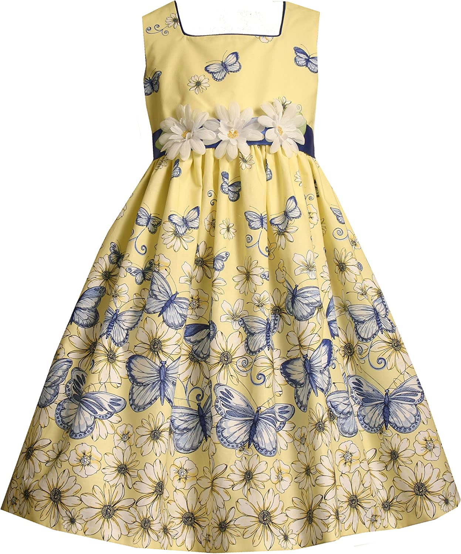 Bonnie Jean Little Girls' Butterfly Border Print Dress