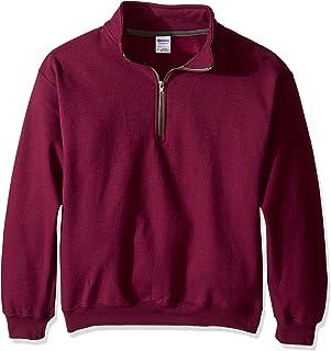 Gildan Mens Fleece Quarter-Zip Cadet Collar Sweatshirt, Style G18800